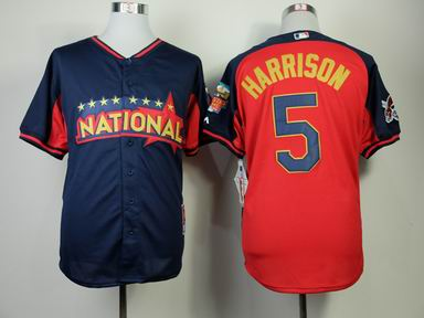 2014 MLB all star Pittsburgh Pirates #5 harrison blue Jersey
