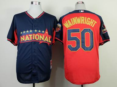 2014 MLB all star St. Louis Cardinals #50 wainwright blue Jersey