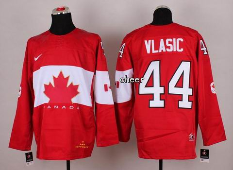 2014 NHL Winter Olympic Team Canada #44 Vlasic Red Jersey