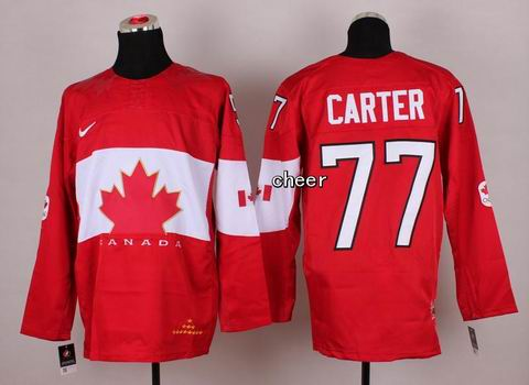 2014 NHL Winter Olympic Team Canada #77 Carter Red Jersey