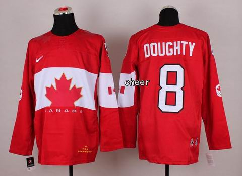 2014 NHL Winter Olympic Team Canada #8 Doughty Red jersey