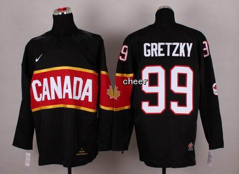 2014 NHL Winter Olympic Team Canada #99 Gretzky Black Jersey