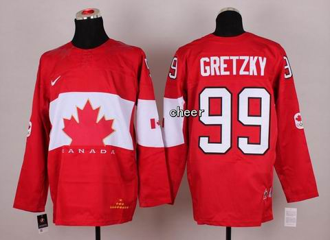 2014 NHL Winter Olympic Team Canada #99 Gretzky Red Jersey