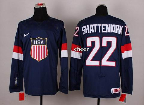 2014 Winter Olympic NHL Team USA Hockey Jersey #22 Shattenkirk Blue