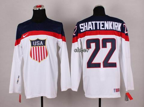 2014 Winter Olympic NHL Team USA Hockey Jersey #22 Shattenkirk White