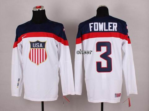 2014 Winter Olympic NHL Team USA Hockey Jersey #3 Fowler White