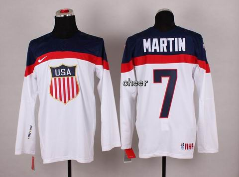 2014 Winter Olympic NHL Team USA Hockey Jersey #7 Martin White