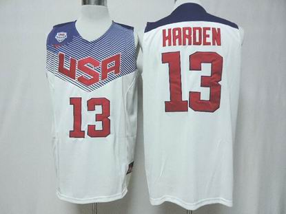 2014 world cup USA 13# Harden white jersey