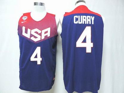 2014 world cup USA 4# Curry blue jersey