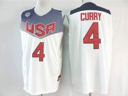 2014 world cup USA 4# Curry white jersey