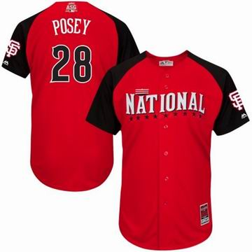 2015 all star National Giants 28 Posey red  jersey