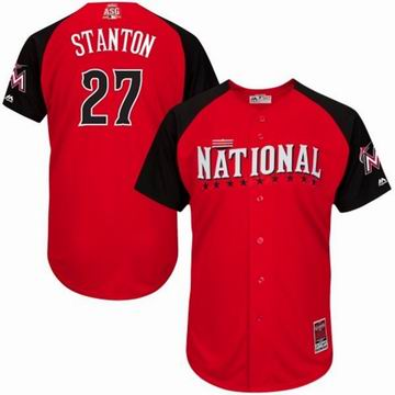 2015 all star National Marlins 27 Stanton red  jersey