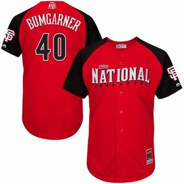 2015 all star National giants 40 Bumgarner red  jersey