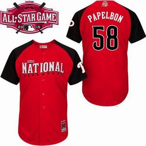 2015 all star national Phillies 58 Papelbon red  jersey