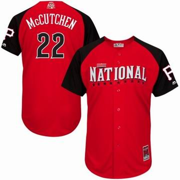 2015 all star national Pirates 22 McCUTCHEN red  jersey