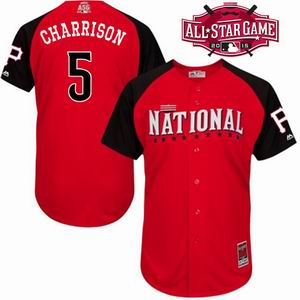 2015 all star national Pirates 5 Charrison  jersey