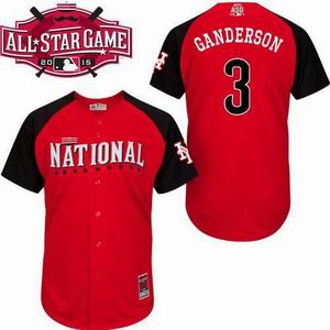 2015 all star national mets 3 Ganderson red  jersey