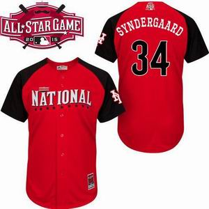 2015 all star national mets 34 Syndergaard  jersey