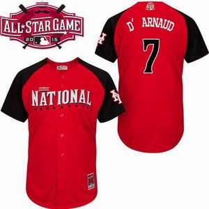 2015 all star national mets 7 D'Arnaud red  jersey