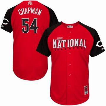 2015 all star national reds 54 Chapman red  jersey