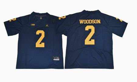 2017 Michigan Wolverines #2 Woodson college football jersey blue