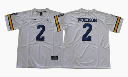 2017 Michigan Wolverines #2 Woodson college football jersey white