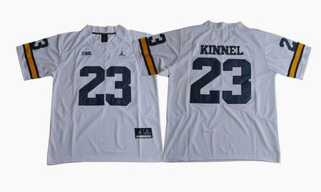 2017 Michigan Wolverines Tyree Kinnel 23 College Football Jersey - White