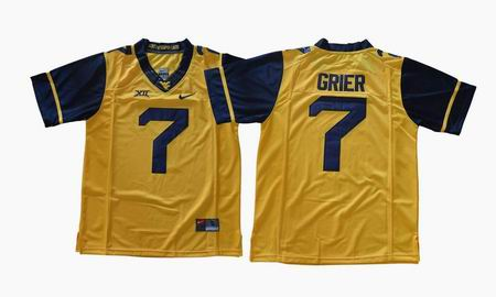 2017 West Virginia Mountaineers Will Grier 7 College Football Jersey - Gold