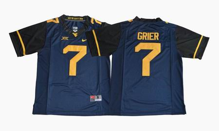 2017 West Virginia Mountaineers Will Grier 7 College Football Jersey - Navy Blue
