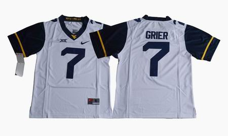 2017 West Virginia Mountaineers Will Grier 7 College Football Jersey - White