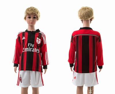 AC milan home long sleeve kids