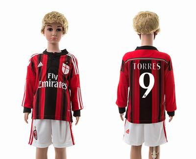 AC milan home long sleeve kids 9#