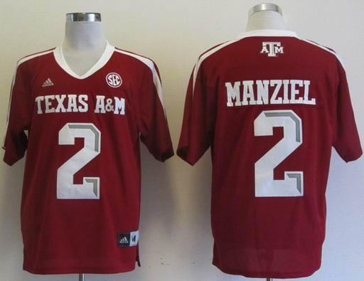 Addidas Texas A&M Aggies Johnny Manziel 2 Football Authentic NCAA Jerseys - Maroon