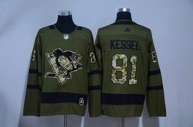 Adidas nhl pittsburgh penguins #81 Kessell army green jersey