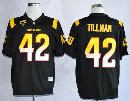 Arizona State Sun Devis (ASU) Pat Tillman 42 College Football Jerseys - Black