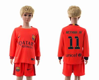 Barcelona away long sleeve kids 11#