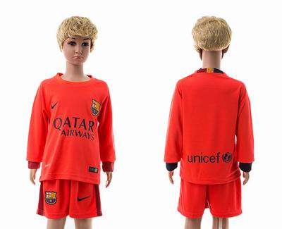 Barcelona away long sleeve kids