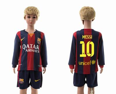 Barcelona home long sleeve kids 10#