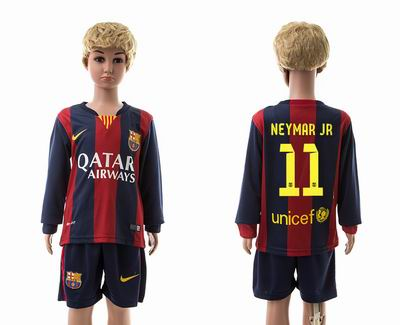 Barcelona home long sleeve kids 11#