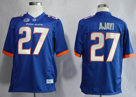 Boise State Broncos Jay Ajayi 27 College Football Jerseys-Blue