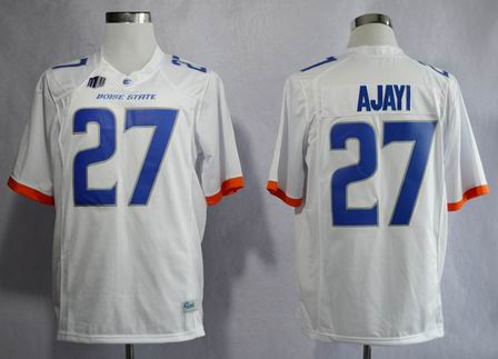 Boise State Broncos Jay Ajayi 27 College Football Jerseys-White