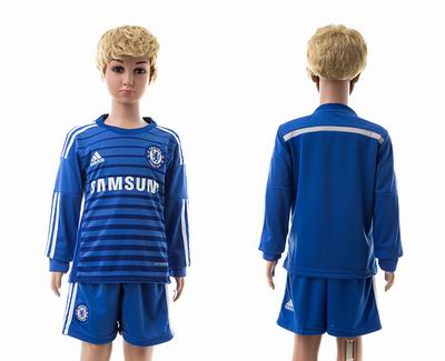 Chelsea home long sleeve kids