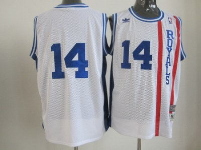 Cincinnati Royals #14 Oscar Robertson Swingman White throwback Jersey
