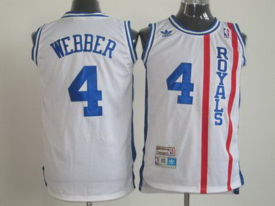 Cincinnati Royals #4 Chris Webber Swingman White Jersey
