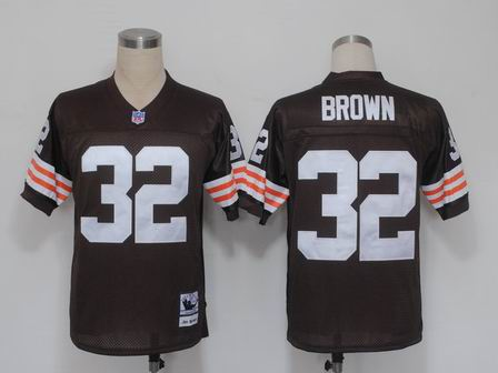 Cleveland Browns 32 Jim Brown brown throwback Jersey