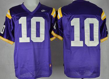 LSU Tigers Anthony Jennings 10 College Football Jersey - Purple