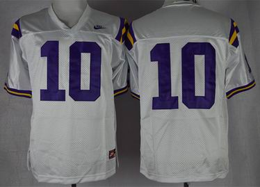 LSU Tigers Anthony Jennings 10 College Football Jersey - White