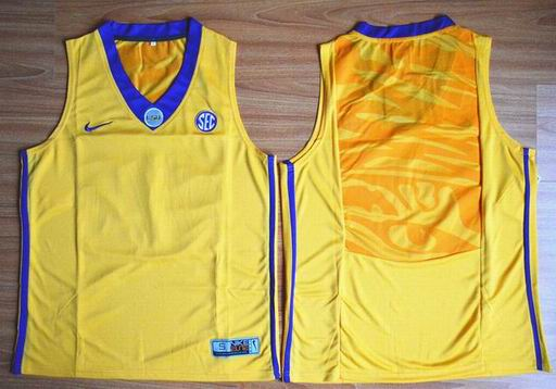 LSU Tigers Blank 00 NCAA Basketball Elite Jersey - Gold