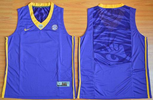 LSU Tigers Blank 00 NCAA Basketball Elite Jersey - Purple