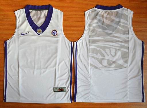 LSU Tigers Blank NCAA Basketball Elite Jersey - White